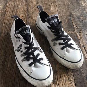 Converse Hardware Sneakers White Black Sz 8 or 10